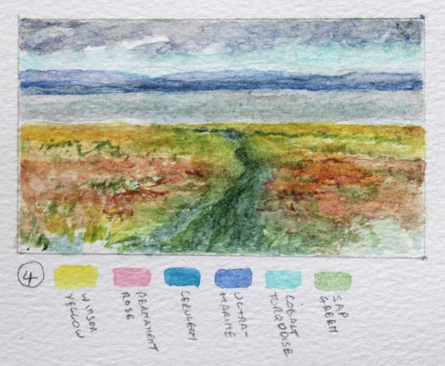Salt marsh sketch - the track