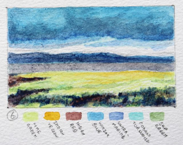 Salt marsh sketch - what a contrast of colours